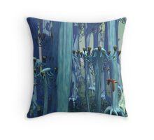 An Alien Forest Throw Pillow
