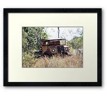A sad ending for a classic truck Framed Print