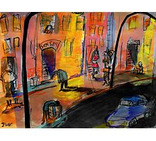 he walks these streets alone Photographic Print