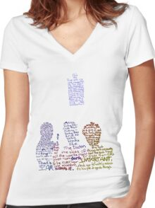 Nine, Ten, Eleven Women's Fitted V-Neck T-Shirt