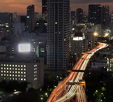 Tokyo Traffic Flow - Japan by Norman Repacholi