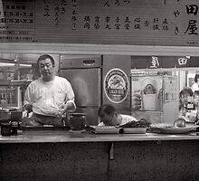 Tokyo take away window - Japan by Norman Repacholi