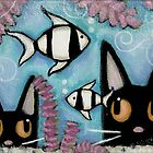 Zebra Fish by Shelly  Mundel