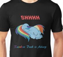 Rainbow dash is asleep Unisex T-Shirt