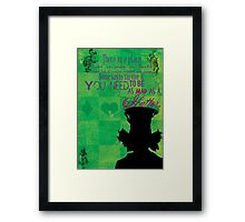 The Mad Hatter Framed Print