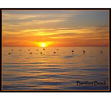 A Barefoot Beach Sunset Photographic Print