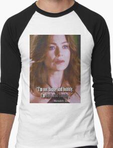 Meredith Grey - Dark and Cloudy Men's Baseball ¾ T-Shirt