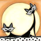 Black Cats and the Moon by Shelly  Mundel