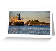 NSS GRANDEUR CARGO SHIP - NEWCASTLE HARBOUR NSW AUSTRALIA Greeting Card