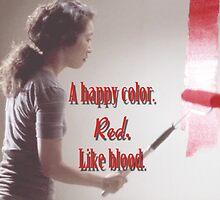 Cristina Yang - A happy color. Red. Like Blood. by cristinaandmer