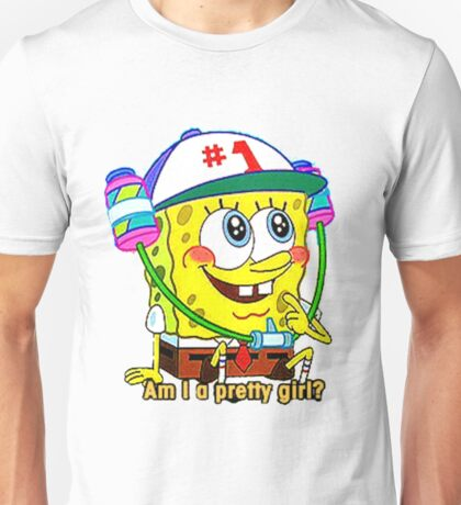 """Am I A Pretty Girl?"" SpongeBob Squarepants Unisex T-Shirt"