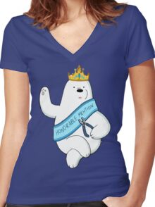 Honorable Ice Bear Women's Fitted V-Neck T-Shirt