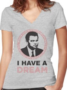 Dom Cobb Has A Dream Women's Fitted V-Neck T-Shirt