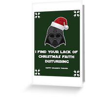 Darth Holidays Greeting Card
