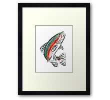 Topo Trout Framed Print
