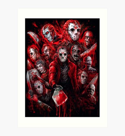 Jason Voorhees (Many faces of) Art Print