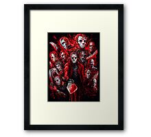 Jason Voorhees (Many faces of) Framed Print