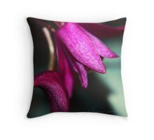 Drooping purple Throw Pillow