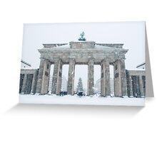Brandenburg Gate in Winter Greeting Card