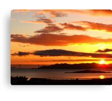 Bay Area Sunset Canvas Print