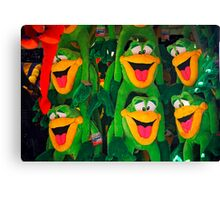 Goofy Green Monkeys Canvas Print
