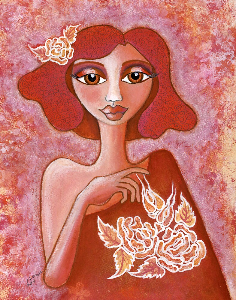 Kiss of a Rose ~ tone on tone bliss by Lisafrancesjudd