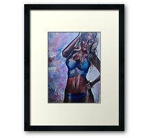 Brilliant in Blue Framed Print