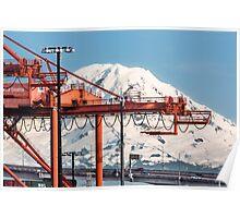Mount Rainier from Harbor Island Poster