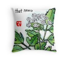 Lovage (the Herb Series) Throw Pillow