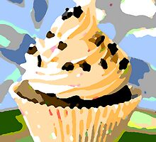 Chocolate Cupcakes with Vanilla Frosting by taiche