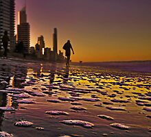 Evening beach walk by GeoffSporne