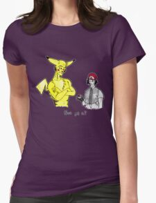 Pikachu is stronger than you Womens Fitted T-Shirt