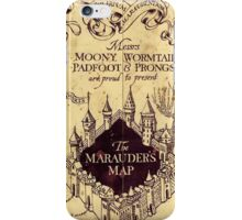 The Marauders Map Harry potter iPhone Case/Skin