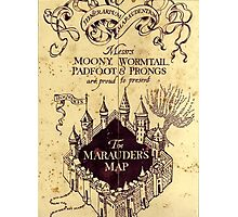 The Marauders Map Harry potter Photographic Print