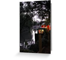Canalside evening Greeting Card