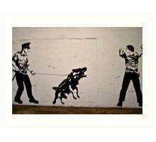 Cops and Robbers Mural Art Print