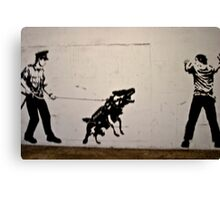 Cops and Robbers Mural Canvas Print