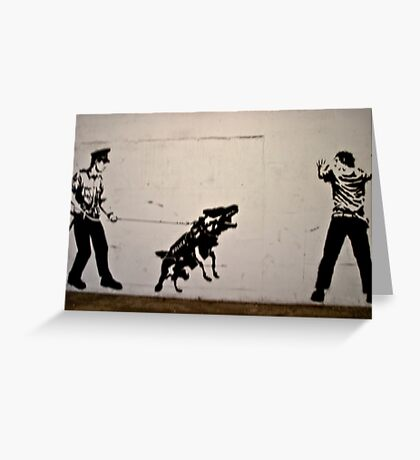 Cops and Robbers Mural Greeting Card