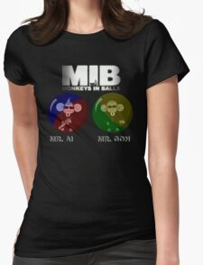 MIB - Monkeys In Balls Womens Fitted T-Shirt