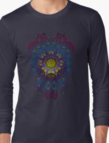 Psychedelic Fractal Manipulation Pattern Long Sleeve T-Shirt