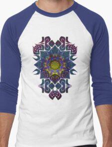 Psychedelic Fractal Manipulation Pattern Men's Baseball ¾ T-Shirt