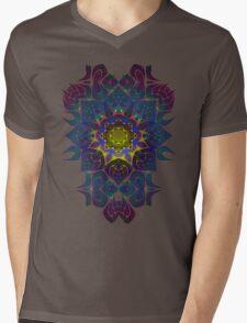 Psychedelic Fractal Manipulation Pattern Mens V-Neck T-Shirt