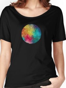 Abstract Color Wave Flash Women's Relaxed Fit T-Shirt