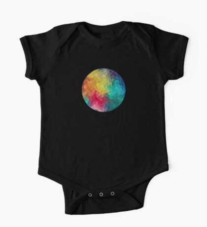 Abstract Color Wave Flash One Piece - Short Sleeve