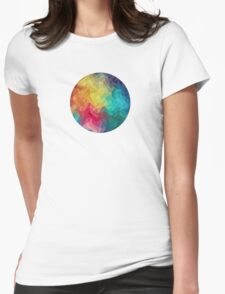 Abstract Color Wave Flash Womens Fitted T-Shirt