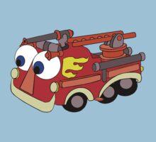 Little Red Firetruck Kids Tee