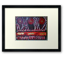 Mysterious Red Framed Print