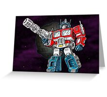 Transformers Optimus Prime Chibi Greeting Card