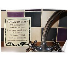 Notice to Staff Poster