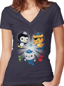 Octonauts, to your stations! Women's Fitted V-Neck T-Shirt